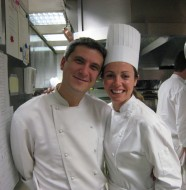 Amy Glaze & the Executive Chef of Guy Savoy