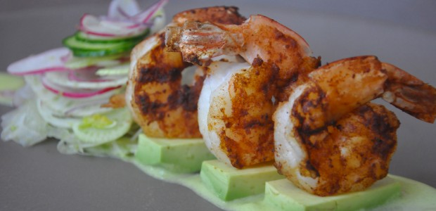 Shrimp and Avocado Salad with Jalapeno Sauce