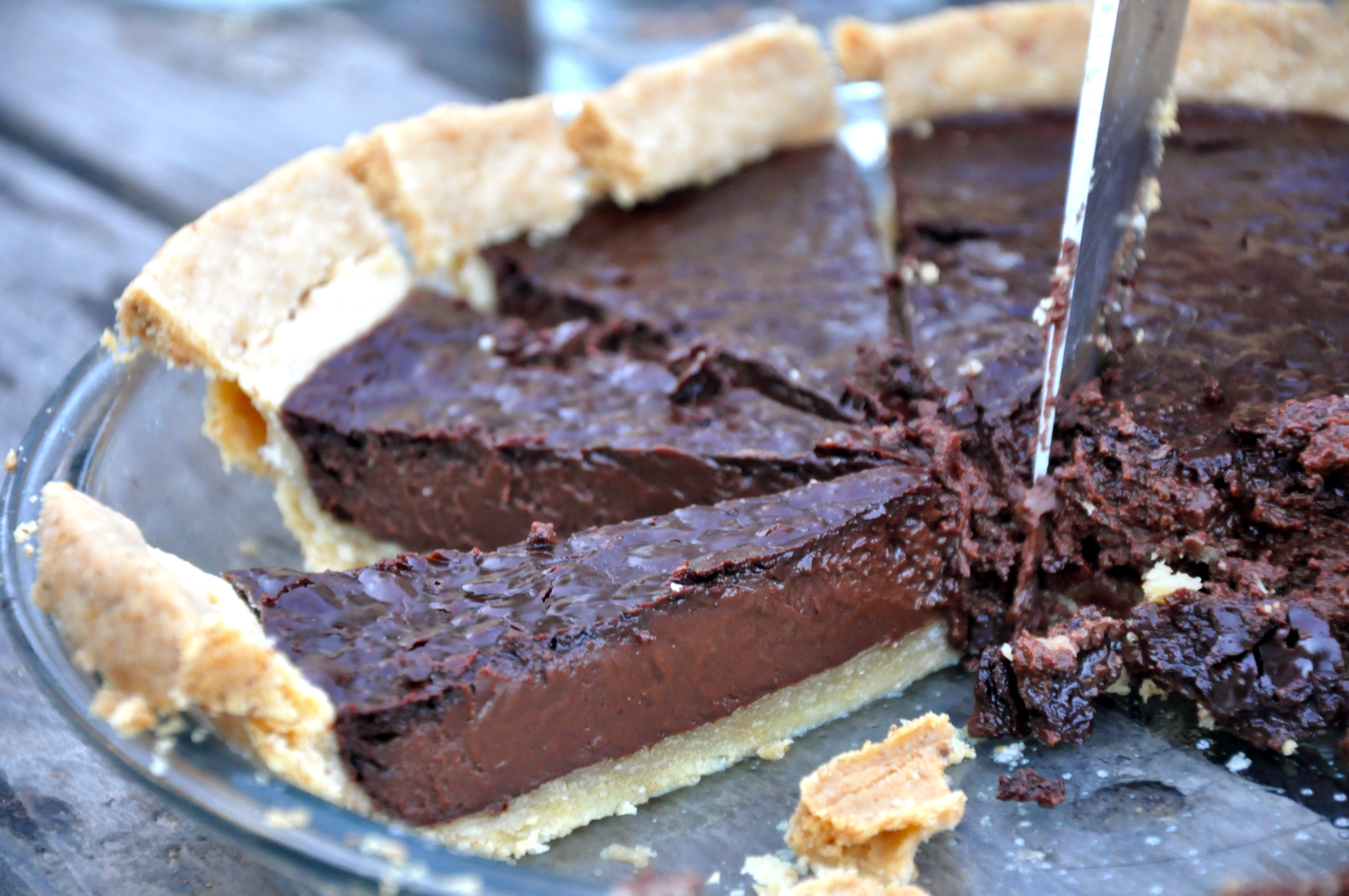 Tarte Au Chocolat: Chocolate Tart | Amy Glaze's Pommes D'Amour