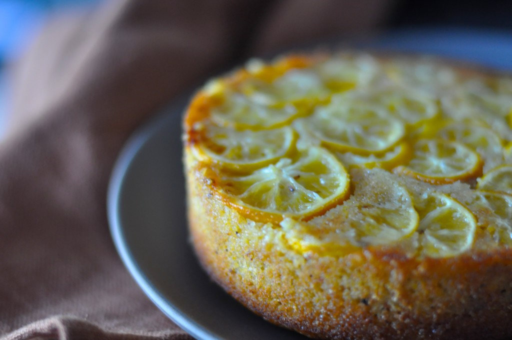 "Giving Up Gluten"" Lemon Polenta Cake with Brown Butter & Walnuts!"