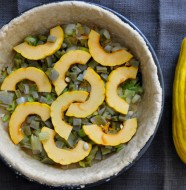 Nopales and Delicata Squash Quiche