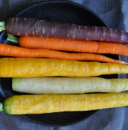 Heirloom carrots from Pie Ranch