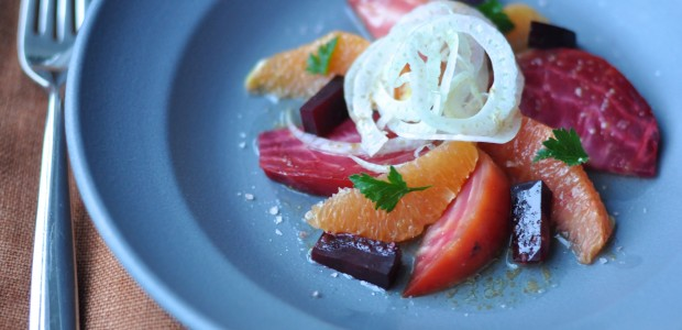 Roasted Beet & Cara Cara Salad with Orange Blossom Vinaigrette