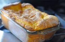 Spoonbread! It's a gluten free soufflé!