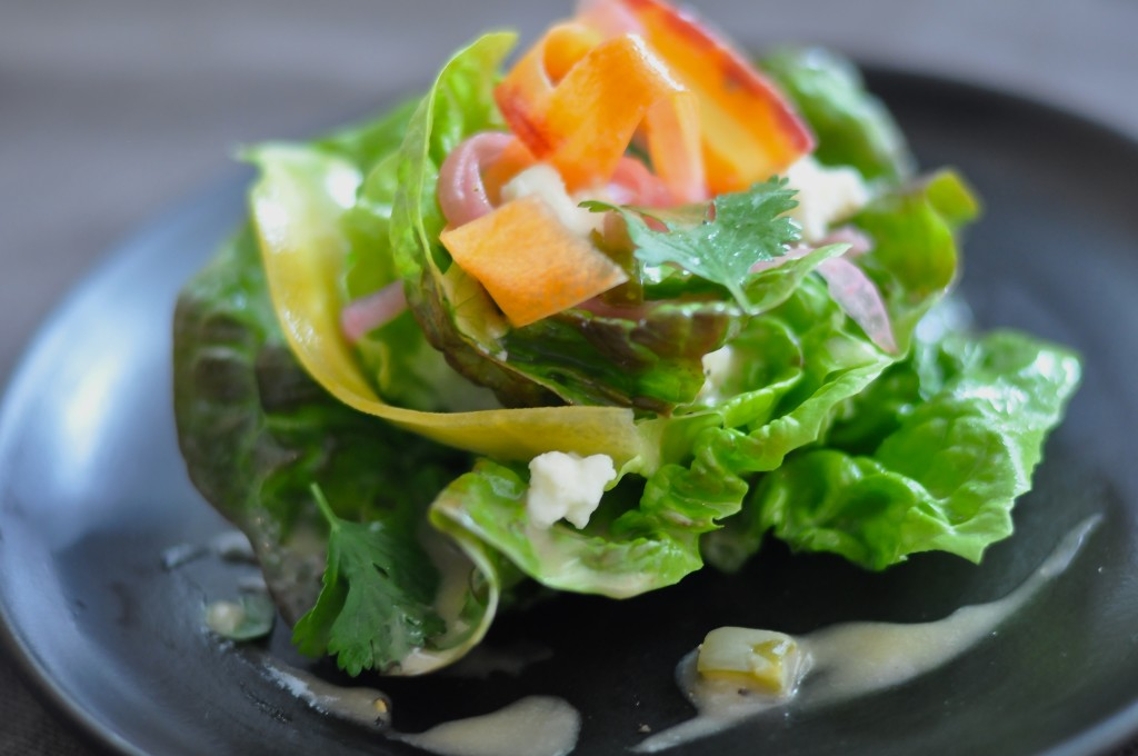 Salad with Carrot, Nopales and Farmcheese