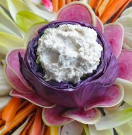 Crudité with Confit Onion Dip from Pie Ranch