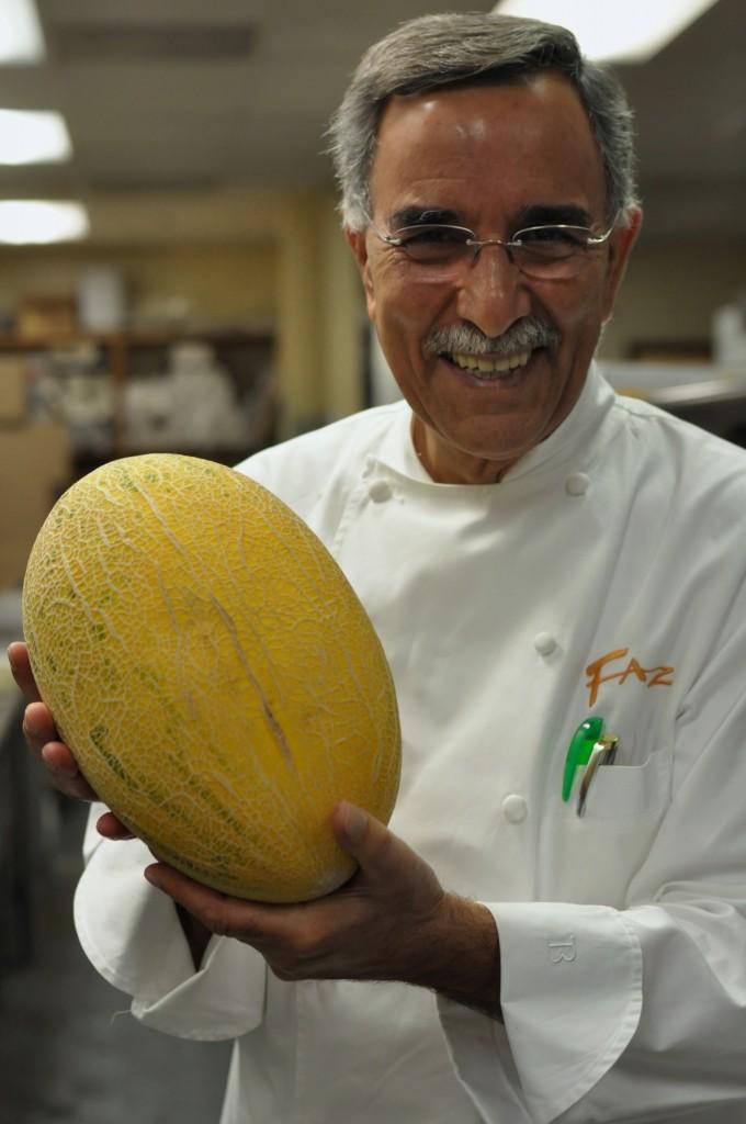Chef Faz with Persian Hami melon at our Pleasanton location