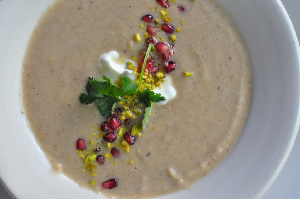 Tamarind Scented Roasted Cauliflower Soup