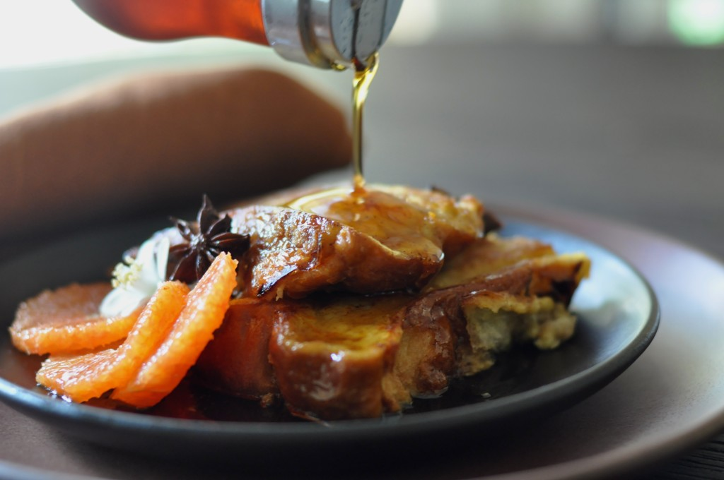 Orange Blossom Maple Syrup over French Toast