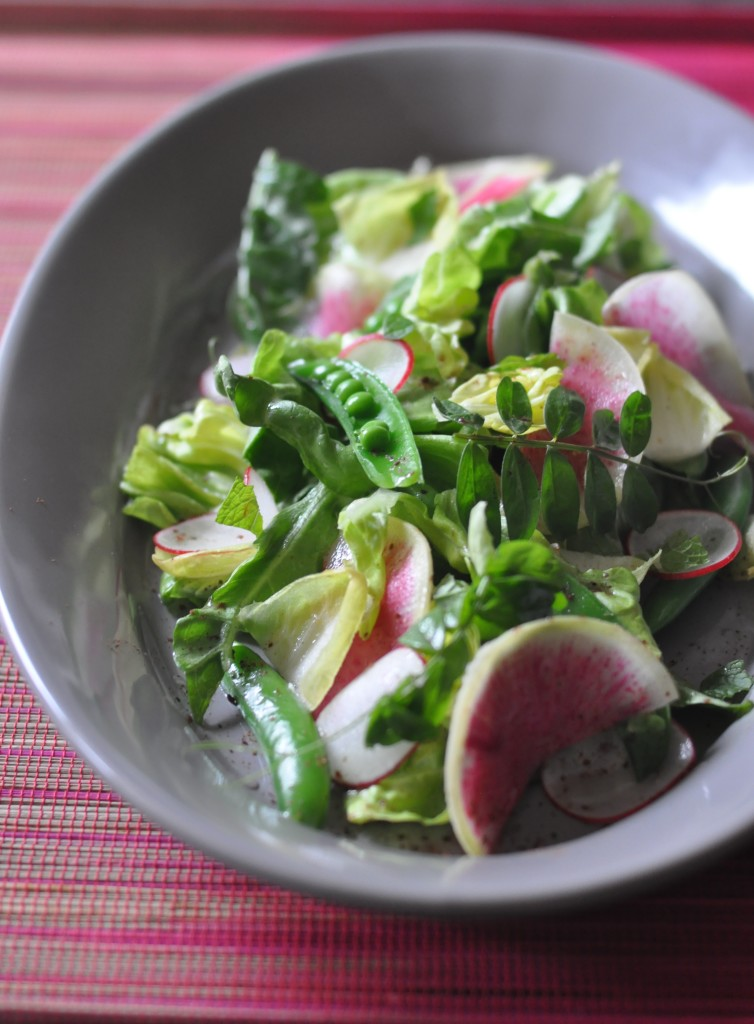 Spring Radish & Snap Pea Salad with Sumac Vinaigrette