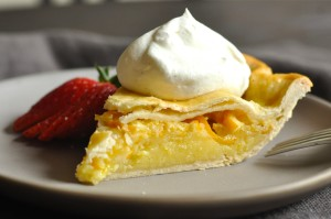 Shaker Lemon Pie made with whole lemon slices –rind, pith and all!