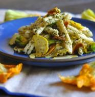 Squash Blossom & Pesto Pasta Salad